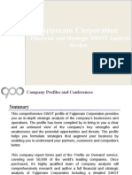 Fujipream Corporation - Financial and Strategic SWOT Analysis Review