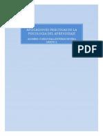 APLICACIONES PRÁCTICAS DE LA PSICOLOGIA DEL APRENDIZAJE