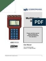 Hydrotechnik MultiHandy3050 Manual