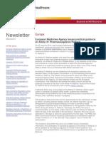 Baker & McKenzie - European Pharmaceutical & Healthcare Newsletter - ( Articles by Kamran Pirani)