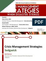 CLM204 -- Crisis Management Strategies When Disaster Strikes