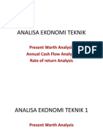 Analisa Ekonomi Teknik