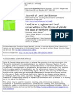 Land Tenure Regimes and Land Conservation in the African Drylands