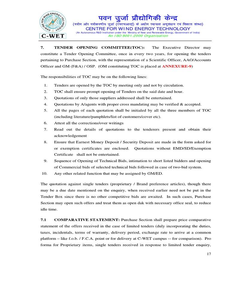 07 Tender Opening Committee | Cadena de suministro | Impuestos