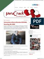 Entrevista a Marco Morales CCIE R&S, Security, SP, CCDE _ Peru Crack