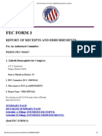 FEC Disclosure Form 3 for Lizbeth Benacquisto for Congress