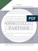 SAP Assignment