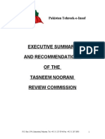 Tasneem Noorani Review Commission summary and recommendations