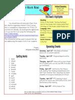 April 11 Newsletter