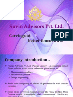 1 Suvin Advisors - Company Profile - Food - Presentation Ppt - 281113