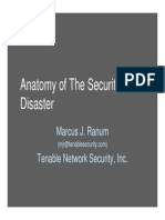 Anatomy of Security Disaster
