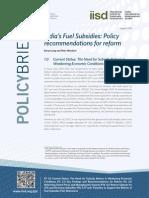 India Fuel Subsidies Policy Brief