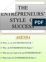 The Entrepreneurs' Style of Success_raghu14slides