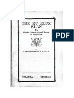 Fowler, C. Lewis - The Ku Klux Klan. Its Origin, Meaning, And Scope