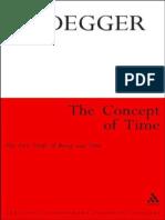 Heidegger, Martin - Concept of Time, The (Continuum, 2011)