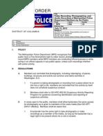 WashingtonDC Metro Police General Orders - Public Photography