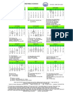 Medford Public Schools district calendar 2014-15