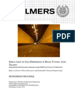 Simulation of Gas Dispersion in Road Tunnel With Traffic