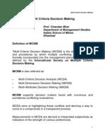 Multi Criteria Decision Making_Presentation