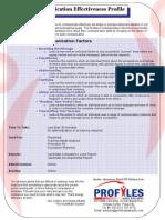 Communication Effectiveness Brochure_detailed