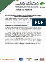 24.- EBG MÁLAGA, ENTRE LOS CUATRO MEJORES DE ANDALUCÍA