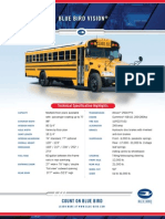 Blue Bird Vision School Bus Specification Sheet
