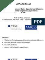 UAV Activities at Center for Autonomus Marine Operations