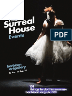 The Surreal House Events Leaflet