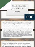 CARTA DE PAULO AOS EFÉSIOS  (introdução)