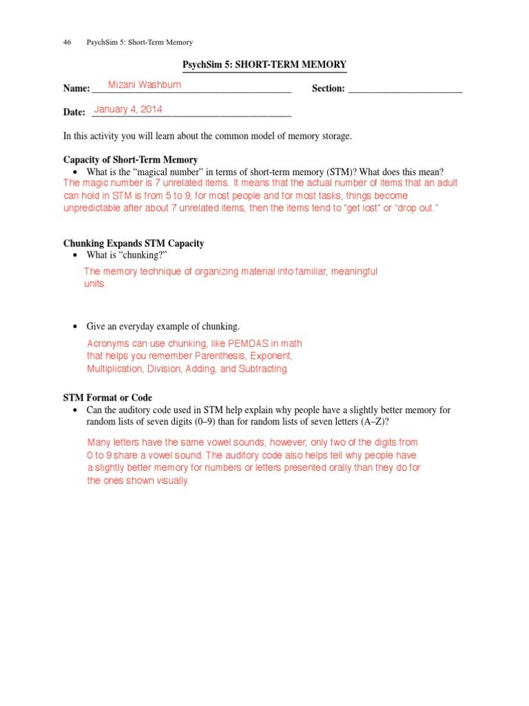 Worksheets Psychsim 5 Worksheets psychsim 5 worksheet answers wiildcreative 25 shorttermmemkjnnj i 5