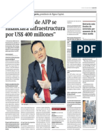 Fondos AFP financiarán infraestructura_Gestión 11-04-2014