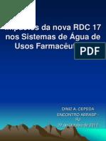 Palestra Impactos da RDC 17 nos Sistemas de Água de Usos Farmacêuticos - Impressão