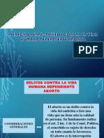 Derecho Penal - Delitos Contra La Vida Humana Diapositivas