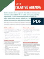 2014 Legislative Agenda