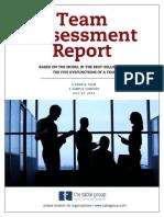 Sample Team Assessment Report
