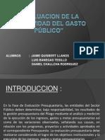EVALUACION DE LA EFECTIVIDAD DEL GASTOPÚBLICO (1)