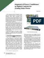 Development of Power Conditioner Using Digital Controls for Generating Solar