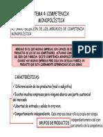 Tema 4 - Competencia Monopolistica