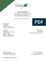 Final Menu Proposal Contract for Dinner at Hyatta Falls April 12.2014 Español