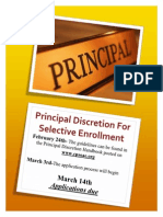 pricipal discresion flyer