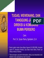 Tugas,Wewenang, Dan Tanggung Jawab Direksi & Komisaris BUMN.