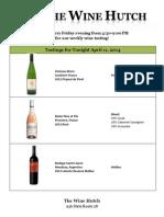 Wine Tasting 4-11-2014