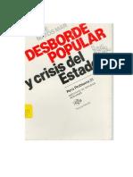 Desborde popular y crisis del estado el nuevo rostro del Perú en la década de 1980