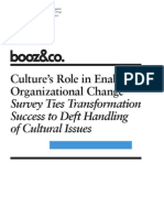 Strategyand Cultures Role in Enabling Organizational Change