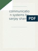 communication systems by sanjay sharma