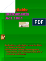 Negotiable Instruments Act 1881.Ppt