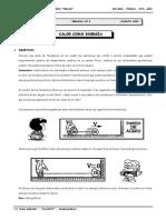 III BIM - 4to. Año - FÍS - Guía 5 - Calor como energía