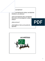 Hipotesis y Pba de Hip 2014