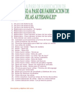 50140520 Curso de Velas Artesanales