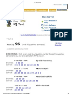 IQ Test Results
